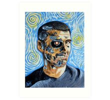 My Van Gogh/T-800 self portrait Art Print