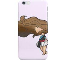 Brown Hair Hmonggy Girl iPhone Case/Skin