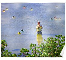 Here Fishy Fishies! Poster