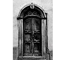 The Door in Black&White Photographic Print