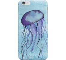 Jelly Fish Watercolor Pring iPhone Case/Skin