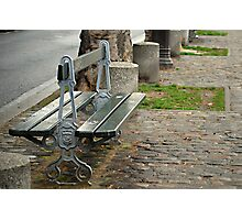 Lonely Parisian bench Photographic Print