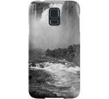 Down the Throat - Iguazu Falls - in monochrome Samsung Galaxy Case/Skin