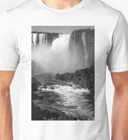Down the Throat - Iguazu Falls - in monochrome Unisex T-Shirt