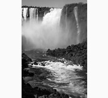 Down the Throat - Iguazu Falls - in monochrome Unisex T-Shirt
