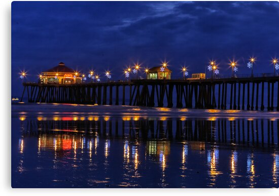 Blue Hour at Huntington Beach Pier~Surf City, USA! by Susan Gary