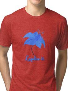 Legalize Poison Joke (text, white background) Tri-blend T-Shirt