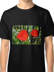 Backlit Red Tulips Classic T-Shirt