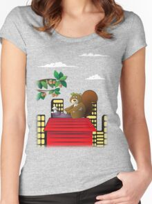 Typewriting Squirrel Women's Fitted Scoop T-Shirt