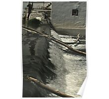 Nice White Water Fall Poster