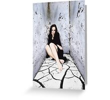 Prison Girl Greeting Card