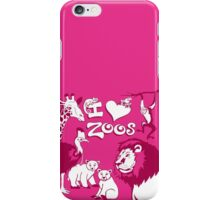 I Love Zoos (pink 2015) iPhone Case/Skin