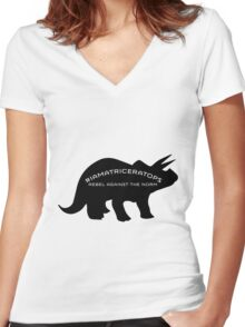 #IAMATRICERATOPS Women's Fitted V-Neck T-Shirt