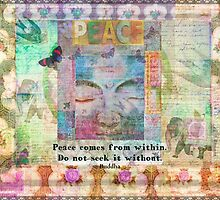 Buddha quote peace word art by goldenslipper