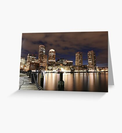 Harborwalk Boston Greeting Card