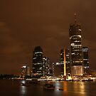 Brisbane City by Night by Matt  Williams