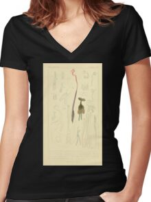 The Animal Kingdom by Georges Cuvier, PA Latreille, and Henry McMurtrie 1834  544 - Zoophytes Plant-Like Animals Women's Fitted V-Neck T-Shirt