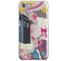 Doctor Who's TARDIS in Color Space iPhone Case/Skin