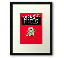 Hello Kitty Look Out THE THING! Framed Print