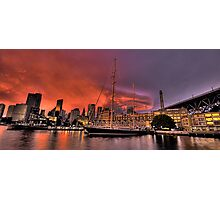 Sailors Warning - Campbells Cove , Sydney- The HDR Experience Photographic Print