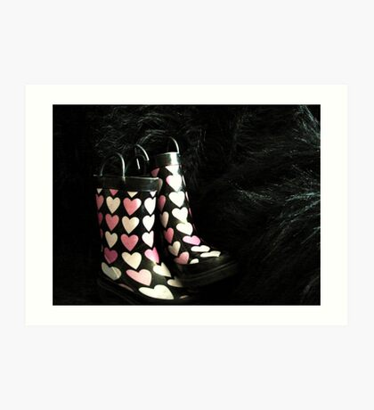 She LOVES Her Rubber Boots!! Art Print