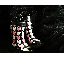She LOVES Her Rubber Boots!! Photographic Print