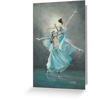 SERENADE IN BLUE/Oil on canvas Greeting Card