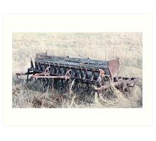 Antique Grain Seeder 1925 - 1926 JD VAN BRUNDT Art Print