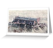 Antique Grain Seeder 1925 - 1926 JD VAN BRUNDT Greeting Card