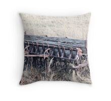 Antique Grain Seeder 1925 - 1926 JD VAN BRUNDT Throw Pillow