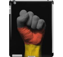 Flag of Germany on a Raised Clenched Fist  iPad Case/Skin