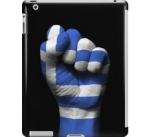 Flag of Greece on a Raised Clenched Fist  iPad Case/Skin
