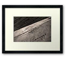 BOSTON  DEC16 Framed Print
