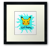 Pokemon Crit Happens Pikachu Shirt Framed Print
