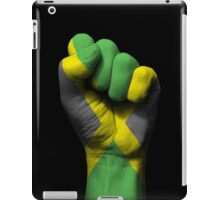 Flag of Jamaica on a Raised Clenched Fist  iPad Case/Skin