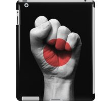 Flag of Japan on a Raised Clenched Fist  iPad Case/Skin
