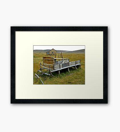 Vintage Sleigh Framed Print