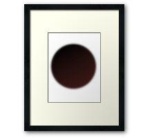 Red black gradient Framed Print