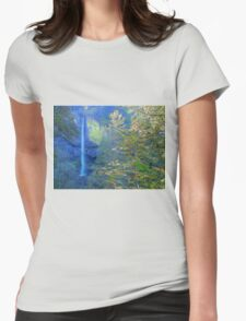 Nature Heals The Soul - Columbia River Gorge Womens Fitted T-Shirt