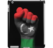 Flag of Libya on a Raised Clenched Fist  iPad Case/Skin