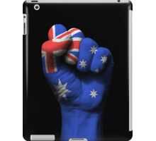 Flag of Australia on a Raised Clenched Fist  iPad Case/Skin