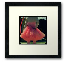 Ttv: Hula Hoops and Pink Ruffles Framed Print