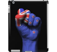 Flag of New Zealand on a Raised Clenched Fist  iPad Case/Skin