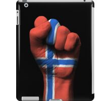 Flag of Norway on a Raised Clenched Fist  iPad Case/Skin