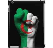 Flag of Algeria on a Raised Clenched Fist  iPad Case/Skin