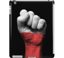 Flag of Poland on a Raised Clenched Fist  iPad Case/Skin