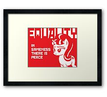 IN SAMENESS THERE IS PEACE Framed Print