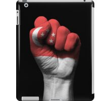 Flag of Singapore on a Raised Clenched Fist  iPad Case/Skin