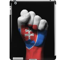 Flag of Slovakia on a Raised Clenched Fist  iPad Case/Skin