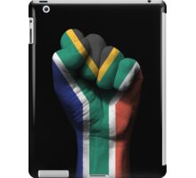 Flag of South Africa on a Raised Clenched Fist  iPad Case/Skin